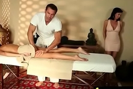 Gorgeous Emaciated gets a massage 11