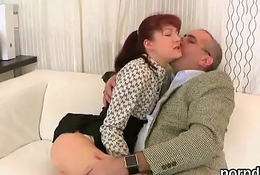 Natural college girl is teased and rode by her aged lecturer