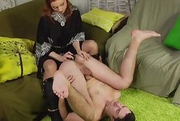 She likes to strap first of all his tight ass Vol. 1