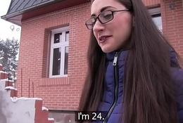 Public Agent Young Russian in Glasses Fucking a Big Bushwa
