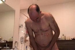 insulting slut piss cum and teethbrushing