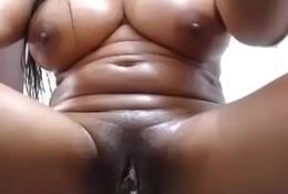 Hot ebony fat pussy masturbate