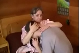 teen boy Russian mature woman