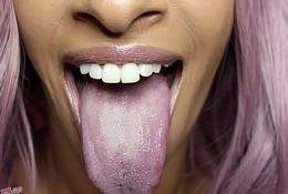 Longue Long Tongue Lips Mouth Fetish Lollipop Sucking