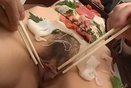 Sushi girl is heartfelt course of the office gangbang
