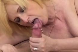Euro granny pussyfucked and jizzed on