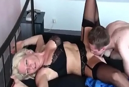Hot German Milf fucks her Young Boy for the first Time