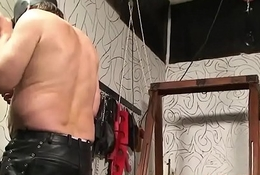 Latin suspension servitude and sexual submission of chubby