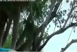 www.addictedpussy.com - Horny couples can'_t control and they do in Public Garden