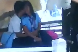 school students smooching kissing outdoor sexual congress mms
