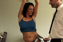 Facefucked mature britt gaggs on will not hear of bigtits