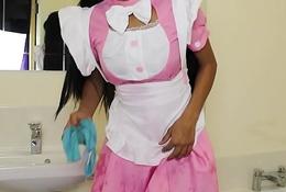 Pretty Maid Ruins Her Uniform Teaser