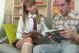 Student prefer learn ass fuck interjection math with older teacher with big cock