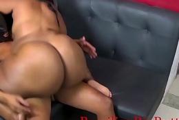 BrazilianBigButts.com WatermelonButt Big Booty Girl Fucking Hard on the Couch