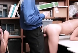 Skinny latina shoplyfter ordered by mom to use her assets to go free