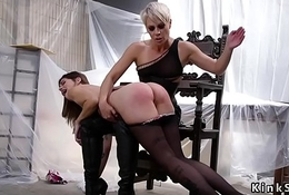 Poof slave spanked and anal fucked
