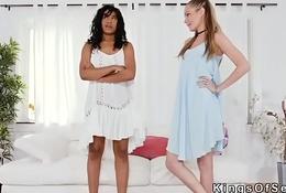 Busty ebony bangs her roommates bf