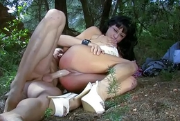 Tattooed Nymph Craves Hard Cock In Forest