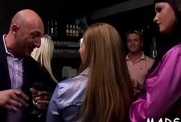 Kinky harlots begin a sex party