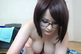 Fluffy girl with big tits rides toy live cam