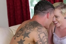 Flaxen-haired Miley May gets fucked by her boyfriend