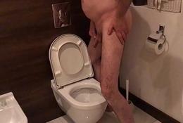 Dirty Toilet Slut Entertains Voyeur