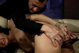 Dutiful sluts ass gets dildoed in threeway