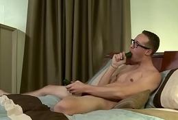 Twink Scotty Blake Masturbates with a Cucumber