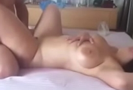 Horny Wife With Great Shaped Ass And Fabulous Breast Filmed Fucking Hot Team up