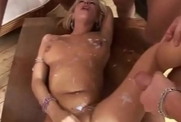 Italian MILF blowjob increased by bukkake