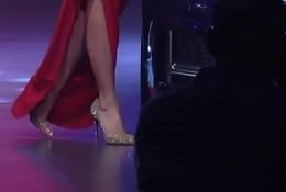 Ileana D'_cruz Hot Ass In Red Frock At Audi A5 Launch