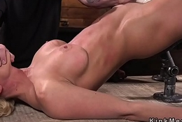 Busty in bondage pussy vibed