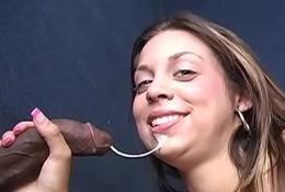 Kimmy Receives Facial Cumshot Form A BBC - Gloryhole