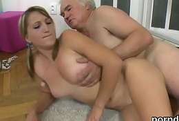 Sensual schoolgirl is seduced and rode hard by her aged mentor