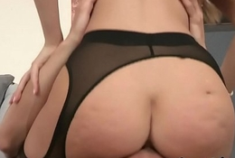 Glamcore babe buttfucked in gaping asshole