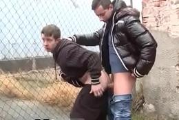 Daddy boy gay porn film in Tourist Ass!