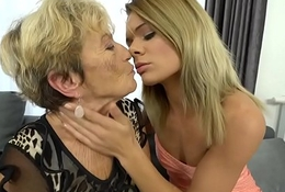 Granny Malya and her much younger friend'_s mint pussy