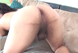 Casting tgirl shakes her big booty