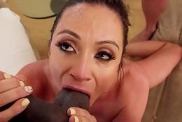 Cocksucking milf pleasuring two big dicks