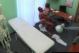 Dicksucking eurobabe banged by doctors blarney