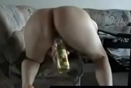 Amateur - German Teen Rides Bottle on Cam - QueenPornCams.com
