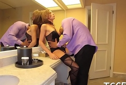 Whore with penis in a hot action