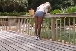 smoking hot girl in park rebuke a demand -xtube5.com