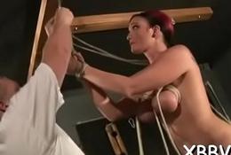 Enslaved babe tit torture sadomasochism